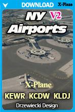 NY Airports v2 XP: KEWR, KCDW, KLDJ (X-Plane)