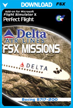 FSX Missions Delta B717-200