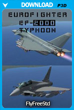 Eurofighter EF-2000 Typhoon V2 (P3D v4)
