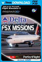 FSX Missions - A321 Delta Airlines (FSX/P3D)