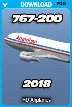 Boeing 767-200 v2018 (P3D)