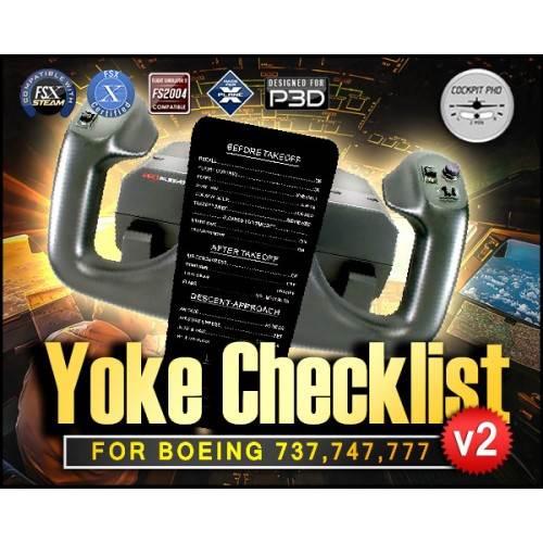 Boeing 737 747 777 Yoke Checklist (Version 2)